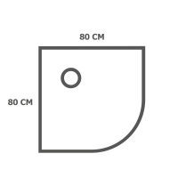 Кабины 80х80 см