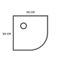 Кабины 90х90 см