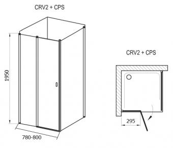 Ravak CRV2-80+CPS