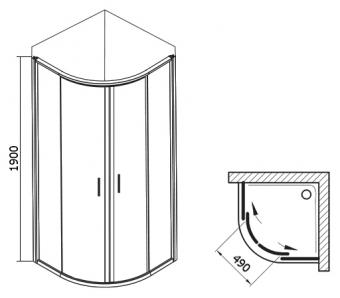 Ravak BLCP4-80 Grafit