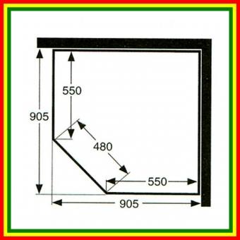 IDO SHOWERAMA 9-5 80х80